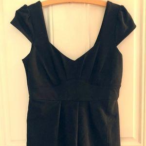 Pins & Needles Black Cap-Sleeve Mini Dress